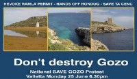 National Save Gozo Protest tonight