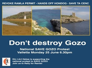 National Protest to Save Gozo