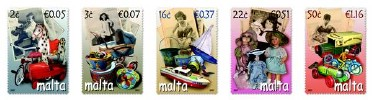 Toys from bygone days featured on new stamps