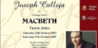 Joseph Calleja to star in Verdi's Macbeth at the Astra Theatre