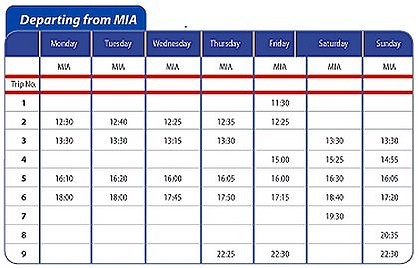 Gozo Ferry and Airport Shuttle Bus timetables change today