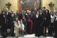AD and their families pay a visit to Archbishop and President