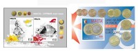 Miniature sheets issued to commemorate new Euro coinage