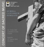 Schola Cantorum Jubilate to give Lent Concert at the Citadella