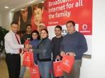 Gozo winners during Vodafone weekend of fun receive prizes