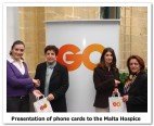 GO makes another donation of phone cards to Malta Hospice