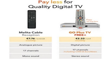 GO Plus customers pay less and get top quality digital TV