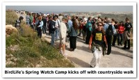 BirdLife's Spring Watch Camp kicks off with countryside walk