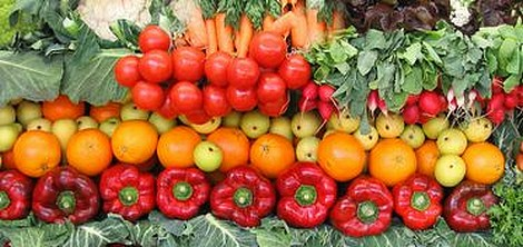 Volume and wholesale value of fruit & vegtables decreasing