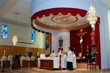 Can. Joseph A. Borg concelebrates Mass with Bishop Mario Grech in Canada