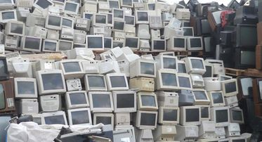 Thousands of Monitors and TV Sets collected