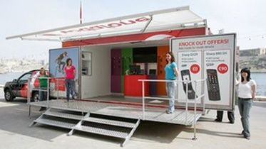Vodafone goes on wheels for the first time