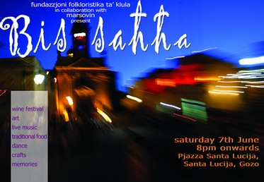 Bis-Sahha at Santa Lucija this coming Saturday