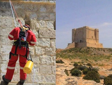 Comino Tower cleaned up by Gozo Red Cross