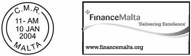 Special postmark - Finance Malta - 'Delivering Excellence'