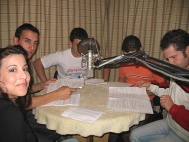 Recording of Radju Lauretana's first radio play