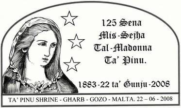 125 Sena Mis-Sejha Tal- Madonna Ta? Pinu postmark