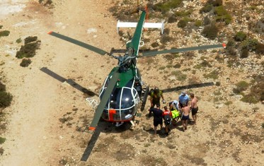 15yr old medically evacuated from Blue Lagoon