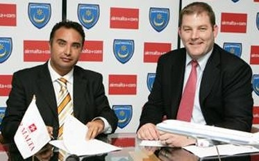 Air Malta signs agreement with Portsmouth FC