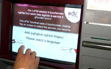 BOV install new touch screen technology ATM
