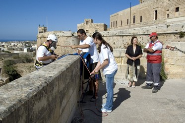 Cittadella Cleanup by Volunteers of the Gozo Branch of the Malta Red Cross Society