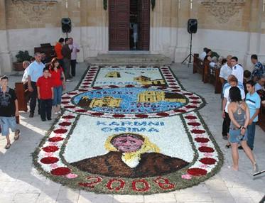 Gharb infiorata marks Ta' Pinu Anniversary