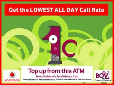 BOV Launches €30 Vodafone Bonus Card