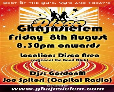 Disco to be held at Ghajnsielem next Friday
