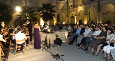 Cultural Evening in Ministry for Gozo courtyard