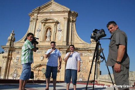 The first online TV transmission from Gozo