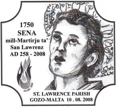 Special hand postmark for San Lawrenz