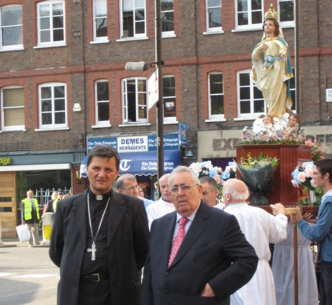 Bishop Grech takes part in London celebrations