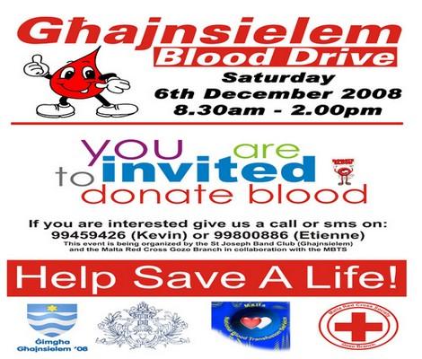 Ghanjnsielem blood drive on December the 6th