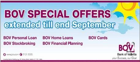 BOV extends its Summer Offers through September