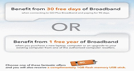 GO launches a new free broadband offer