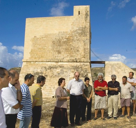 New restoration works at Mgarr ix-Xini Tower