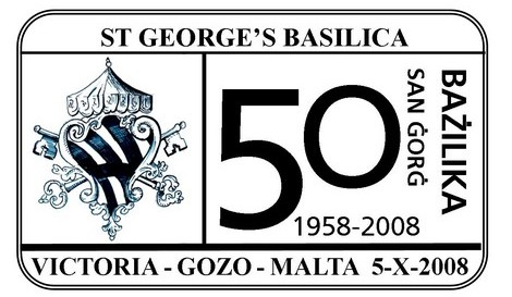 Special hand postmark - 50 Sena Bazilika San Gorg 1958 - 2008