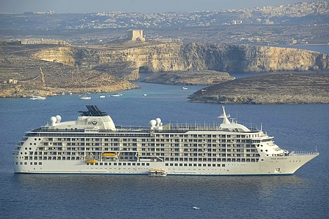 Cruiseliner The World on its second visit to Gozo