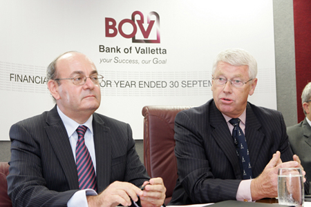 BOV profits down by 60% with a direct hit of €12.7 million from the Lehman failure