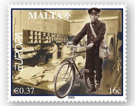 """Reprint of the €0.37c stamp from Europa 2008 """"Letters"""" issue"""