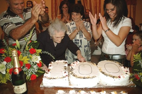 Marija Saliba from Xewkija celebrates her 100th birthday