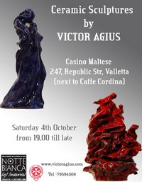 Victor Agius ceramics to be exhibited at Notte Bianca