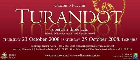 Turandot coming to Victoria's Astra Theatre