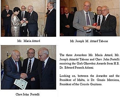 'Gieh Ghawdex' 2008 Award Ceremony results