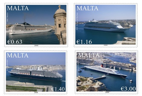 New 'Cruise Liners' stamp issue by MaltaPost