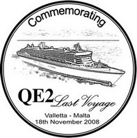 Special hand postmark for last voyage of QE2