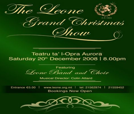 The Leone Grand Christmas Show on December 20th