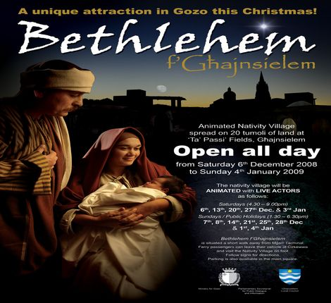 'Bethlehem f' Ghajnsielem'  to open on December 6th