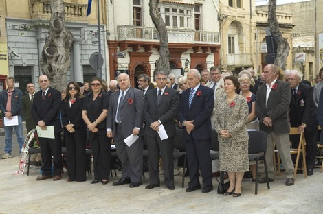 Remembrance day ceremony held in Gozo yesterday