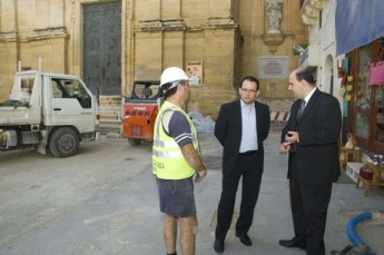 Dr Chris Said visits St George's Square refurbishments